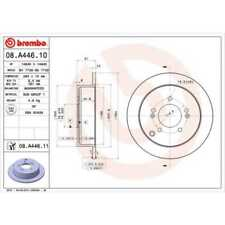 BREMBO 2x Bremsscheiben Voll 08.A446.10