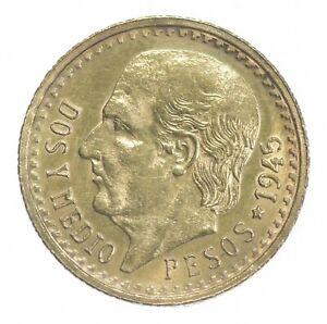1945 2 1/2 Pesos - Miguel Hidalgo y Costilla - Mexico Gold Coin *410