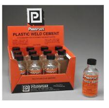 2 Bottles = 4 oz Plastruct Plastic Weld Welding Model Kit Glue Cement w/ Brush