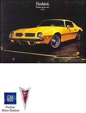 1974 Pontiac Firebird Sales Brochure