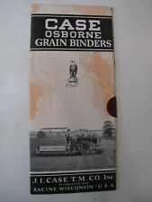 Farming Agriculture Trade Catalogue Case Osborne Grain Binders Reaper Machinery