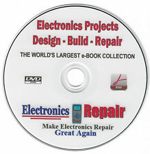 Collection Of Hard To Find Electronics Design - Build - Repair - Project Manuals<