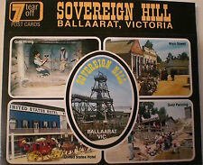 SOVERIEGN HILL, BALLARAT VIC. 1980s : 7 TEAR-OFF  AUST POSTCARDS