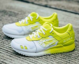 ASICS GEL-LYTE III 1191a224-100 WHITE/YELLOW MEN'S RUNNING CASUAL SHOES