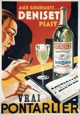 """""""ANIS DENISET"""" Affiche originale entoilée Litho JOSEPH-CHARLES 1930 103x143cm"""