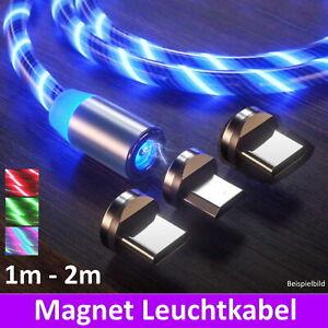 Ladekabel 3in1 Leuchtkabel USB Typ-C Micro Handy für Samsung Xiaomi Huawei LED