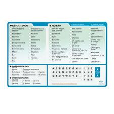 EZ Patient Communication Board Spanish 1 ea