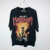 Vintage 2003 Manowar Kings of Metal Band T-Shirt Black Men's Size: XL