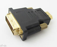100pcs HDMI Male to DVI-D Male 24+1 Pin DVI M/M Converter Adapter Gold Plated