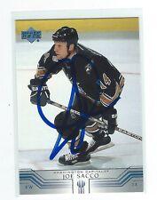 Joe Sacco Signed 2001/02 Upper Deck Card #405