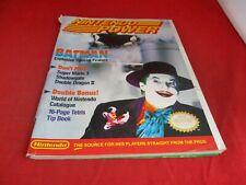 Nintendo Power January / February 1990 Batman Cover w/ Dynowarz Poster #B1