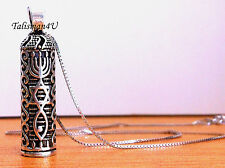 MESSIANIC MEZUZAH & SCROLL Jerusalem Seal - GRAFTED in Sterling Silver Pendant