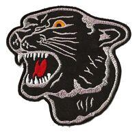 Patch écusson panthère noire black panther brodé thermocollant
