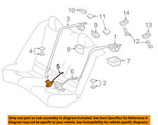 TOYOTA OEM 2018 Camry Rear Seat Belts-Buckle Right 7347006210E0