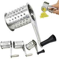 Stainless Steel Cheese Grater Accessories Round Rotary Shredder Tools 11x5.5cm