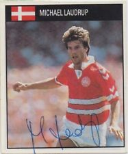 More details for michael laudrup (denmark barcelona fc) hand signed 'orbis world cup 90' sticker