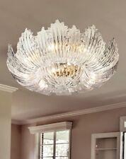Plafoniera 8 luci in vetro di murano trasparente coll. Dese 6730-PL24