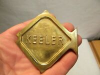"vintage Keeler Brass Company Brass Fish 3.25""x3.5"" that is in good shape - NR"