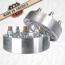 """2 USA MADE 8 Lug 200mm To 8 x 200mm Wheel Adapter / 2"""" Spacer 14mm1.5 Stud & Nut"""