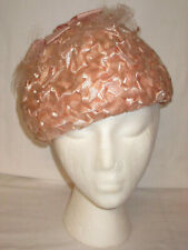 Vintage Ladies Pink Hat Cap Mr. Paul
