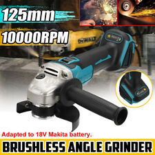 125m Cordless Brushless Angle Grinder Replaces For 18V Makita Li-ion Battery