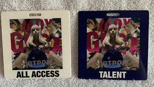 Lot Of 2 Lady Gaga Artpop All Access & Talent 3.5 x 3.5 Laminated Backstage Pass