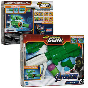 Hasbro Nerf Assembler Gear Blaster Gewehr Pistole Avengers Hulk Spielzeugblaster