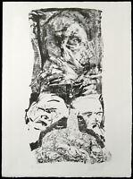 DDR-Kunst/Leipziger Schule 1983. Lithogr. Johannes HEISIG (*1953 D) handsigniert