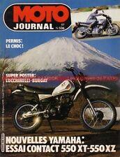MOTO JOURNAL  536 Road Test YAMAHA XT 500 XT 550 XZ Rallye PARIS DAKAR 1981