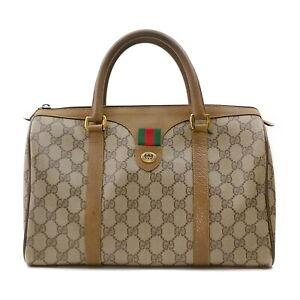 Vintage Gucci Hand Bag  Light Brown PVC 2203359