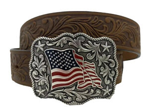 Justin New AMERICAN PRIDE Milwaukee Leather Belt  Size 20  NWT  C30219