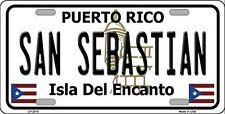 "San Sebastian Puerto Rico Novelty 6"" x 12"" Metal License Plate Auto Tag Sign"