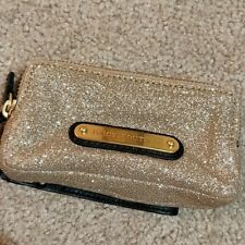 Juicy Couture Gold Glitter Wristlet Clutch