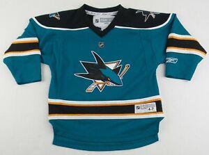 Authentic Reebok NHL San Jose Sharks Hockey Jersey Size Youth (4-7)