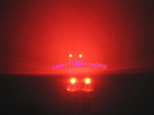 100pcs, 5mm Red Straw Hat LED 5000MCD Wide Angle Water Clear Leds + Resistors