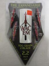 2017 Wac'Em 2 Blade 100 Grain Mechanical ExpandibleBroadhead 4 Pack