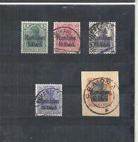 Militärverwaltung Rumänien, MVR 1918 Michelnrn: 8 - 12 o/**, Michelwert € 7,50