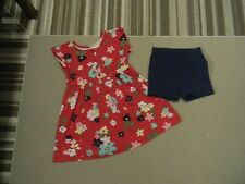 HANNA ANDERSSON  DAY DRESS PLAY DRESS & SHORTS RED/NAVY 100  US SIZE 4