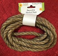 Nautical Rope Decorative Rope 9.5 feet Long 3/8 Diameter