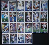 1991 Topps Indianapolis Colts Team Set of 22 Football Cards