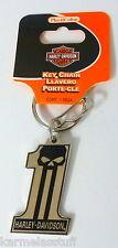 Harley-Davidson Dark Custom Metal Key Chain NEW