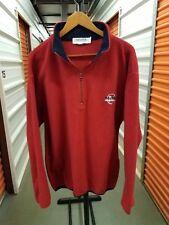 Vintage 90's NAUTICA Competition Full Zip RED Fleece Circle Logo Sweatshirt LG