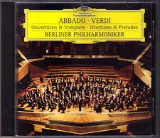 Claudio ABBADO: VERDI Aida La Forza del Destino Traviata Luisa Miller Nabucco CD