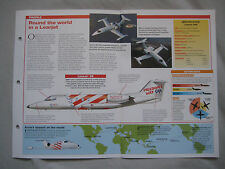 Aircraft of the World Card 39 , Group 1 - Gates Learjet