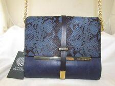 Vince Camuto blue/black suede shoulder bag