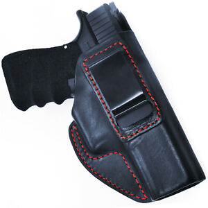 Glock 17-19-21-26-30-42-43 Shoulder Genuine Leather Holster Black Brown R L Hand