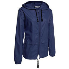 Womens Rain Waterproof Jackets Windbreaker Anorak Hooded Coats Casual Raincoat