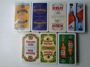 "7x Schafkopf/Tarock/Skat/Spielkarten mit ""Brauereiwerbung"""