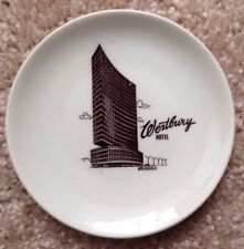 1960s 1970s WESTBURY HOTEL RESTAURANT WARE BUTTER PAT ASHTRAY, BRUSSELS, BELGIUM
