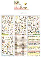 6 planches de Stickers autocollants pour décorer vos objets -Série Chats Mignons
